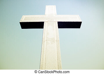pietra, cielo, croce, fondo