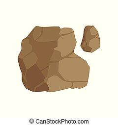 pietra, cima, illustrazione, coperchio, vettore, disegno, paesaggio, fondo, bianco, elemento, sentiero, percorso, vista