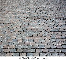 pietra, ciottolo, struttura, strada, fondo, o