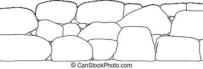 pietra, corto, contorno, recinto