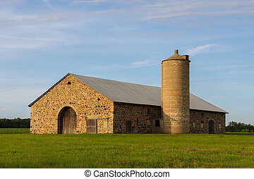 pietra costruzione, -, retro, rurale, granaio