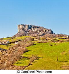 Pietra di Bismantova in Reggio Emilia Apennines - Italy -...