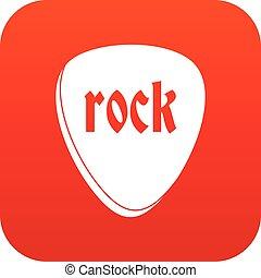pietra, digitale, roccia, rosso, icona