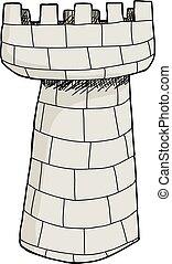 pietra, isolato, torre