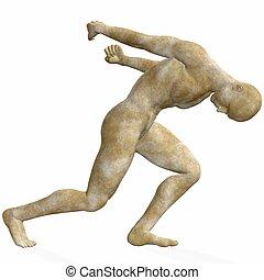 pietra, maschio, statua