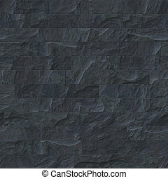 pietra, nero, seamless, struttura