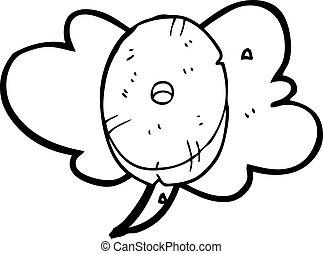 pietra, numero zero, bolla discorso, cartone animato