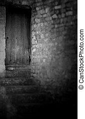 pietra, porta, scale