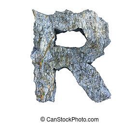 pietra, r, lettera