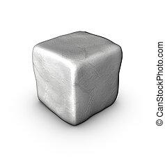 pietra, singolare, ciottolo, uno, 1, bianco, 3d