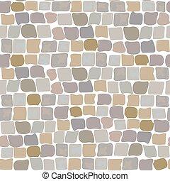 pietre, cobbled, parete, pattern., seamless, struttura, strada, pavimentazione, strada, pietra