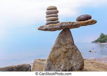 pietre, equilibrio, zen