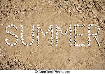 pietre, estate, sabbia, -, spiaggia
