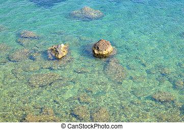 pietre, in, blu, mare