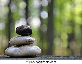 pietre, pace,  zen, foresta, natura