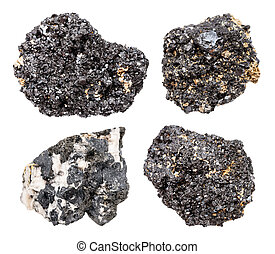 pietre, set, isolato, perovskite, bianco, vario