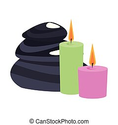 pietre, terme, candele