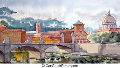 pietro, rom, sant, basilika