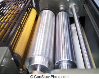 pieza de la máquina, impresión