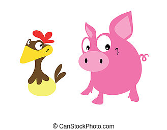 pig and hen