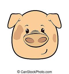 pig animal cartoon