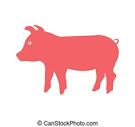 pig animal farm isolated icon