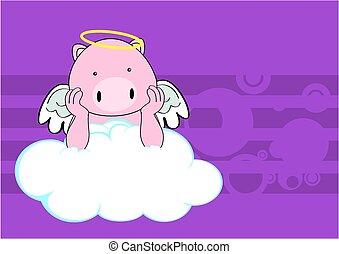 pig baby cute angel cartoon
