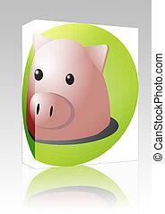 Pig cartoon box package
