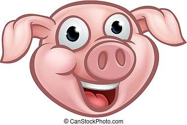 Pig Cartoon Character