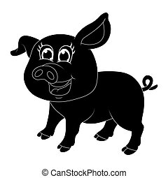 pig cartoon character vector design isolated on white background