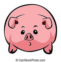 Pig cartoon simple