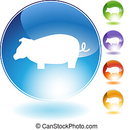 Pig Crystal Icon