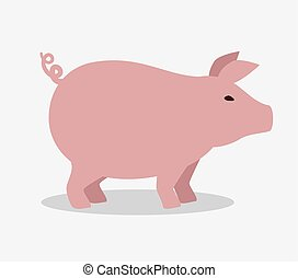 pig farm animal icon