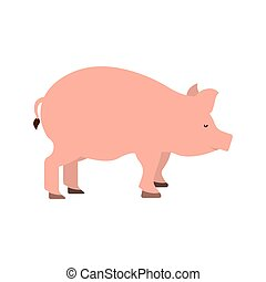 pig farm animal isolated icon