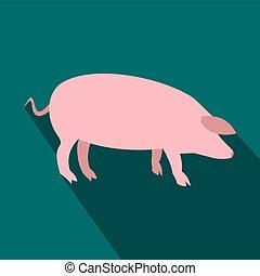 Pig flat icon
