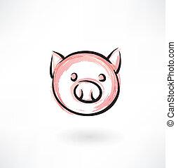 pig grunge icon