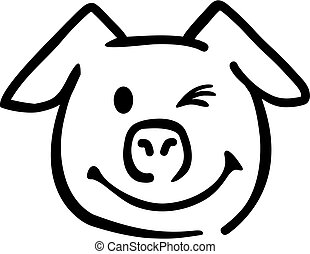 Pig head blink