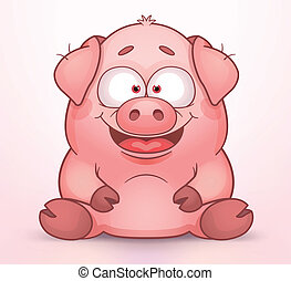 Pig - Cute Cartoon Pig