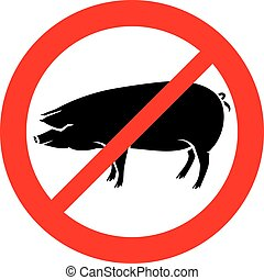 pig not allowed sign