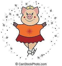 Pig - skates the symbol 2019