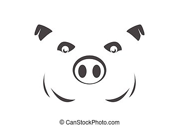 pig symbol on white background