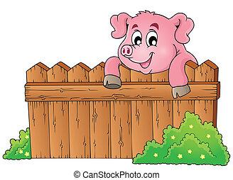 Pig theme image 3 - eps10 vector illustration.