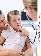 pige, efterset, er, pediatriker