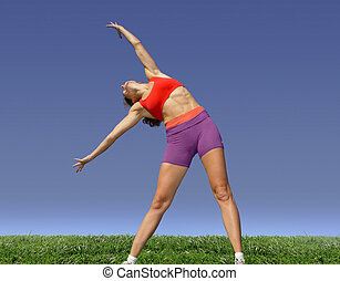 pige exercising
