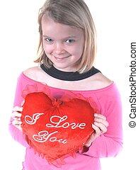 pige, hjerte