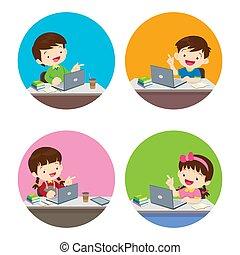 pige, hus, dåse, ophold, lifestyle, hjem, dreng, sunde, bruge, børn, du, aktivitet, teknologi, indretning