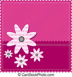 pige, lykønskning, card