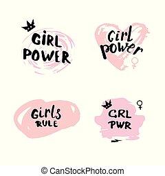 pige, set., magt