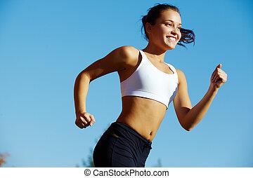 pige, sport