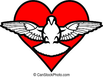 Pigeon and Heart